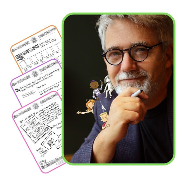 Author Peter Reynolds and Storybook Academy pages and characters