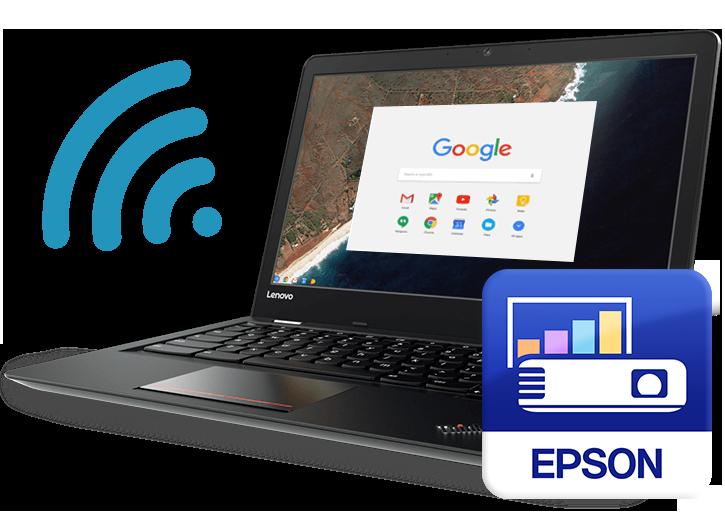 Chromebook integrates with Epson Brightlink