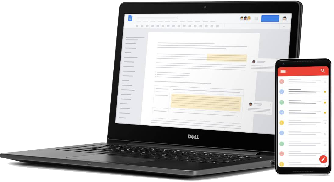 Computer showing Google screen