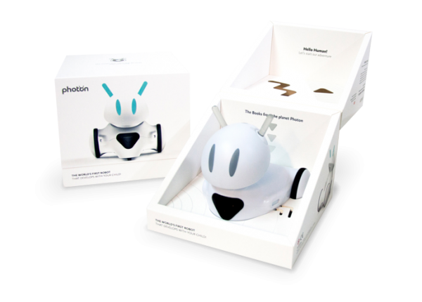 Photon shown in box